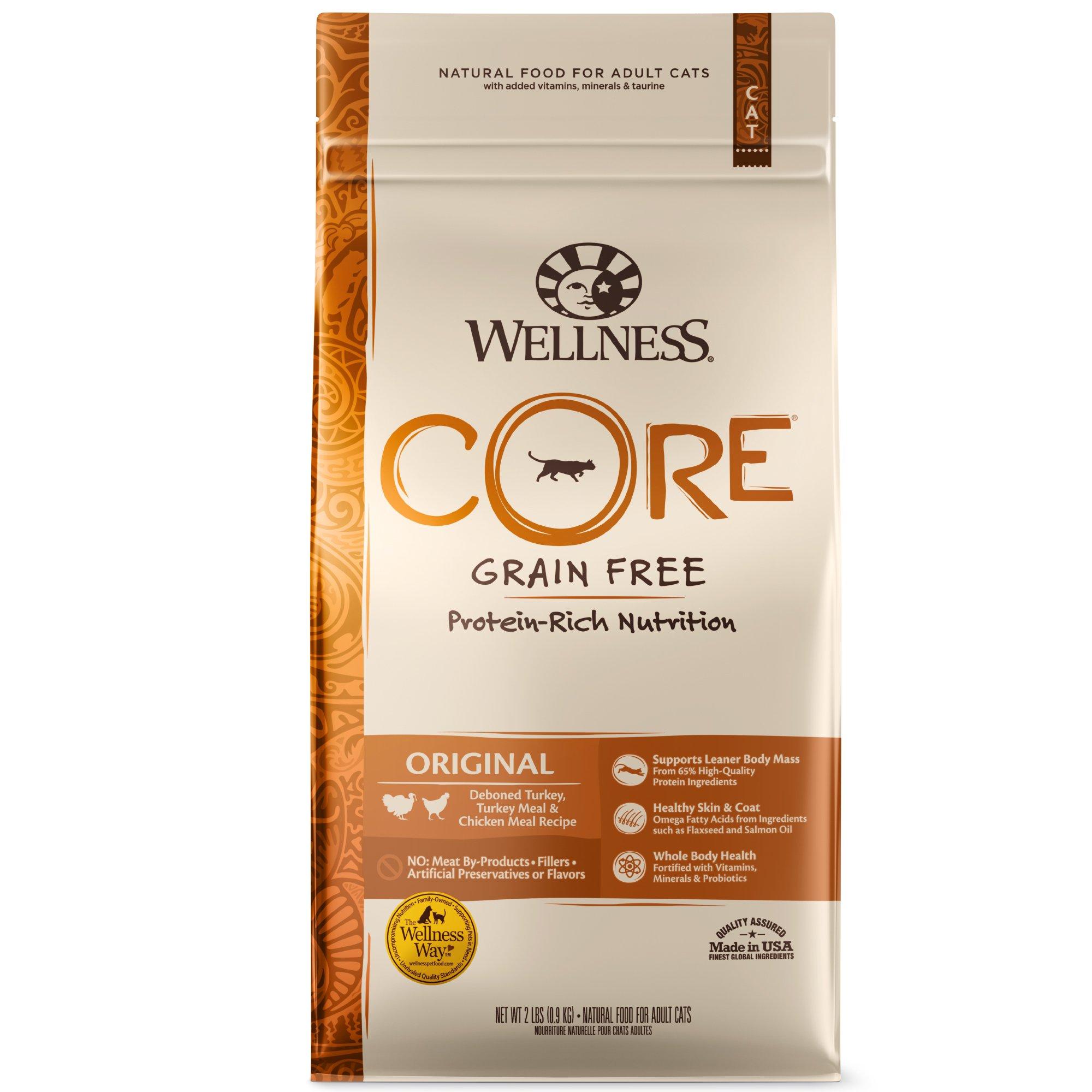 Wellness Core Natural Grain Free Dry Cat Food, Original Turkey & Chicken Recipe, 11-Pound Bag by WELLNESS CORE