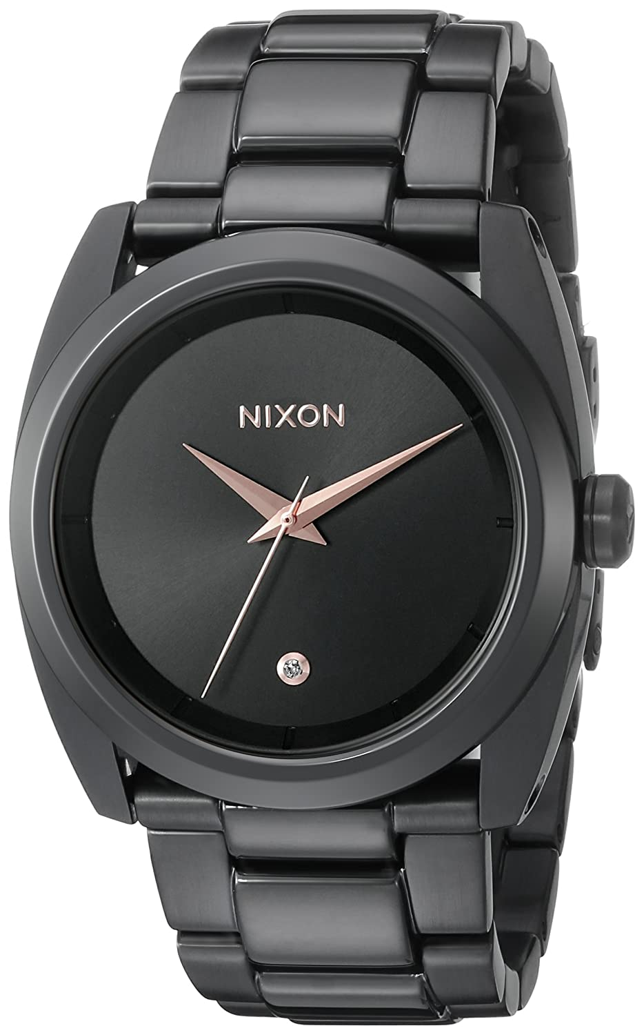 Nixon Women s A935001 Queenpin Analog Display Japanese Quartz Black Watch