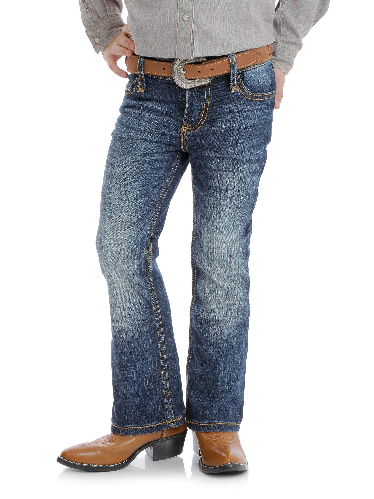 Wrangler Girls' Little Retro Stretch Boot Cut Jeans, Medium Blue, 4 REG by Wrangler