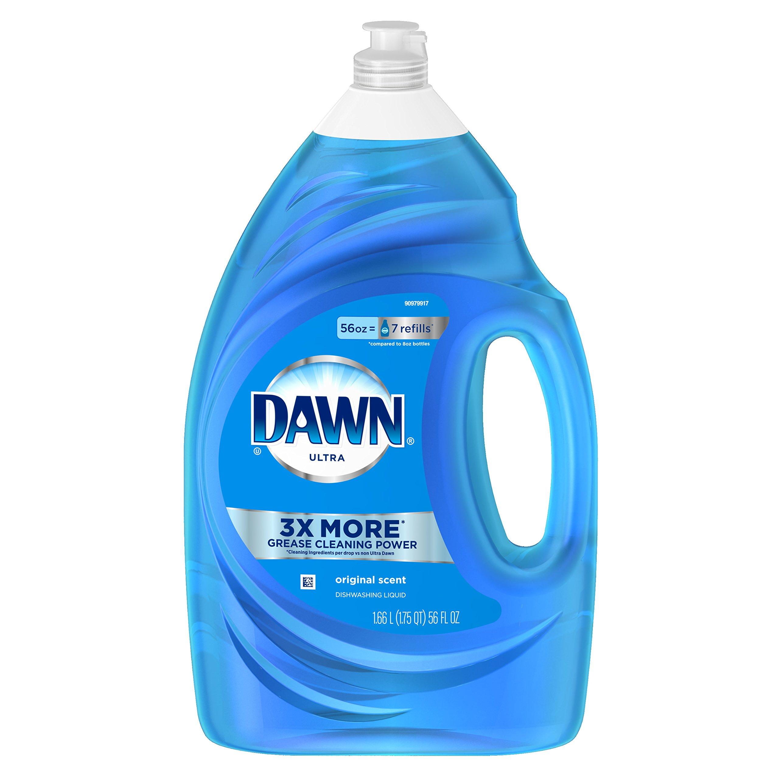 Dawn Dish Soap, Ultra Dishwashing Liquid, Original Scent, 56 fl oz, 1-Pack