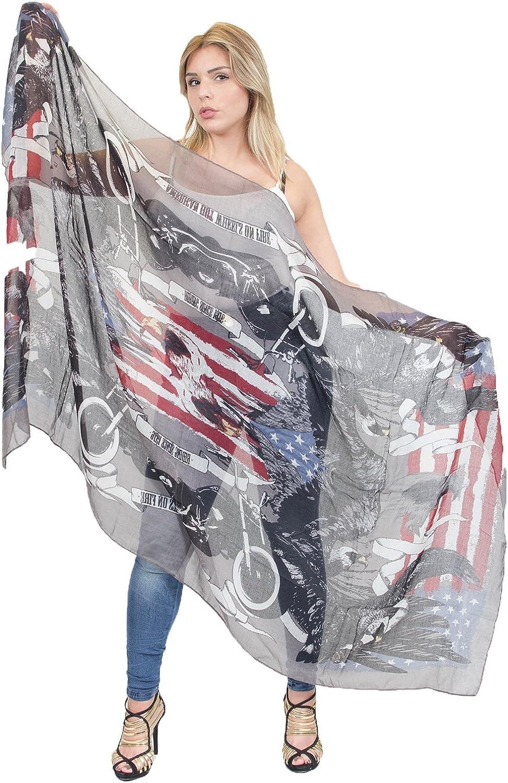 Flag Scarf Poncho Wrap.