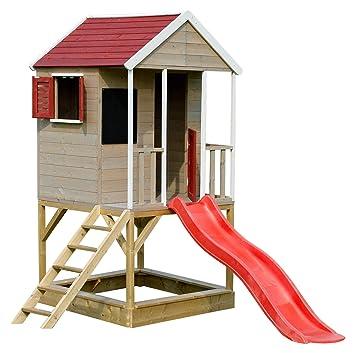 Sommer Kinder Haus Auf Platform Kinder Holz Garten Spielhaus