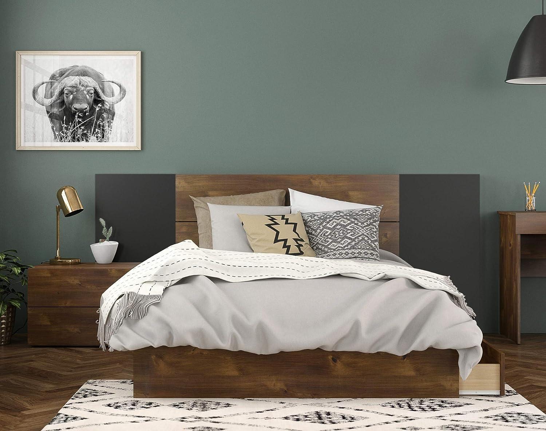 Nexera Rubicon Full Size Platform Bed Set #402133, Truffle Truffle
