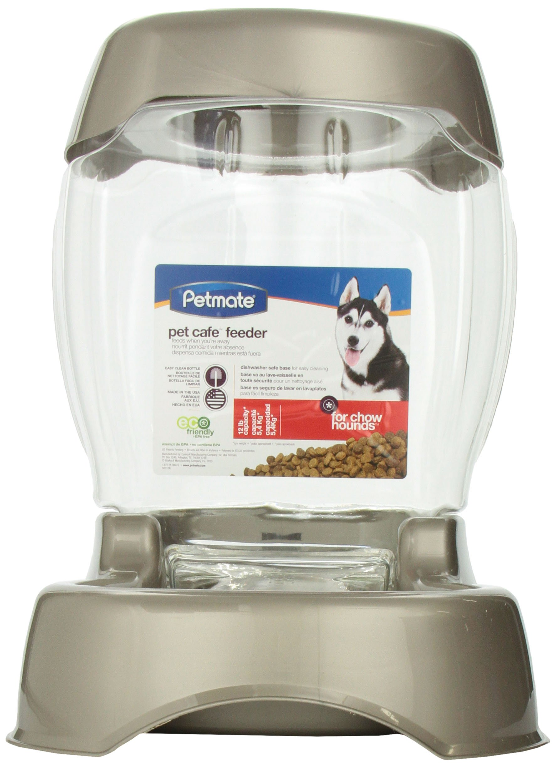 Petmate Pet Cafe Feeder - 12 lb Pearl Tan