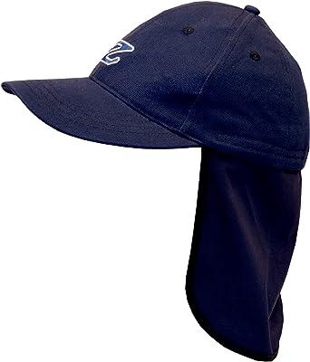 Zunblock - Gorra con protector de cuello para niño, color azul, 48-52