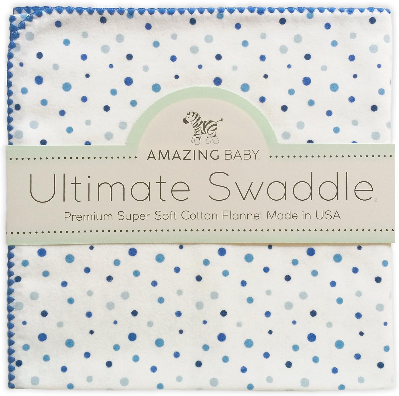 Amazing Baby by SwaddleDesigns - Manta de franela de algodón para bebés