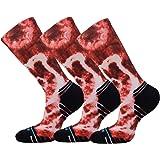 Fastbon Unisex Fashion Printing Sports Crew Socks for Cycling, Trekking, Jogging, Climbin,Hiking Socks 3, 6, 12 Pairs