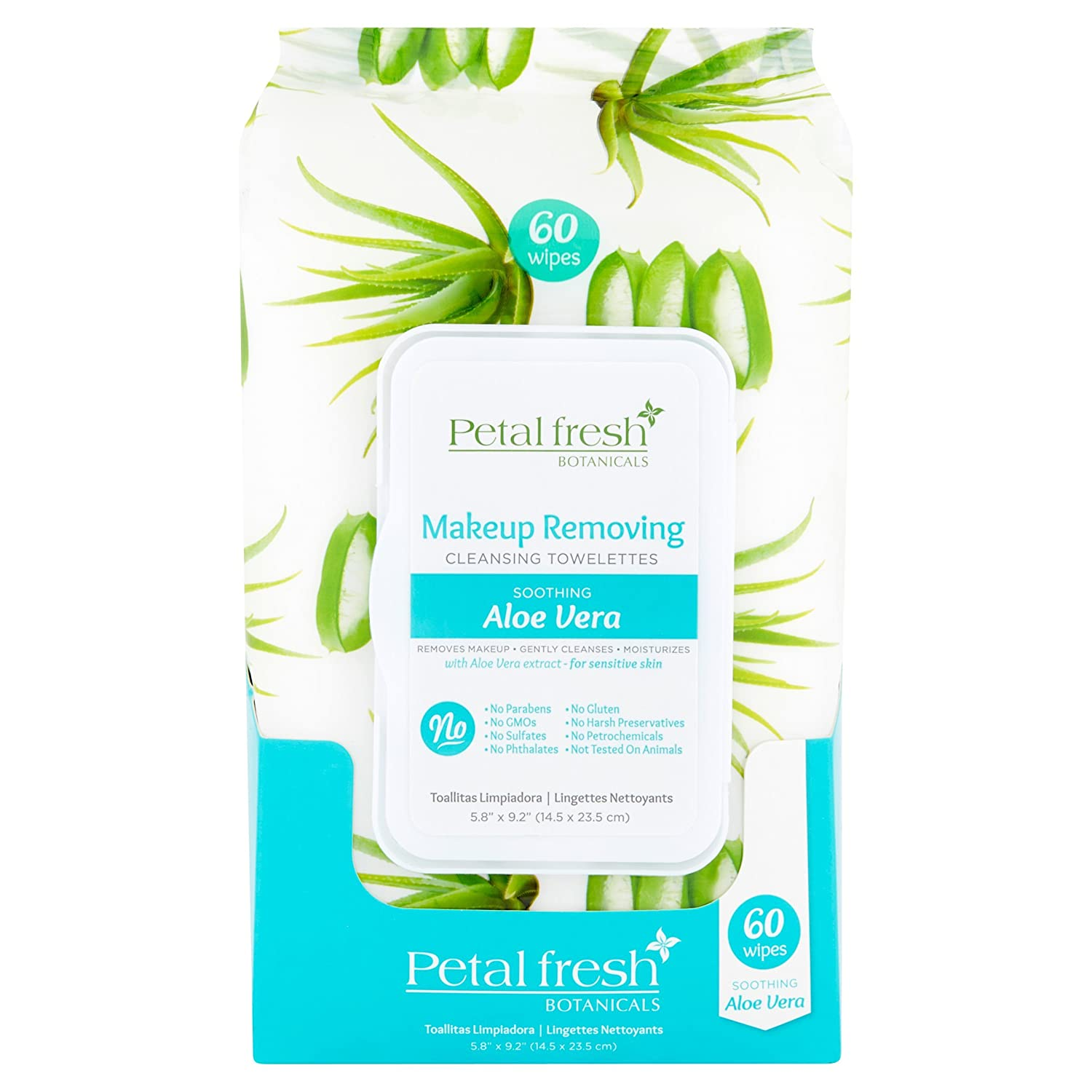 Amazon.com: Petal Fresh Cleansing Towelettes (Makeup Removing Wipes) 60 wipes: Beauty