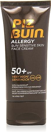 Piz Buin Allergy Protector Solar Facial, SPF 50+ Protección Muy Alta para Pieles Sensibles al Sol – 50 ml