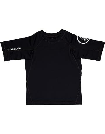 495145881 Volcom Boys' Solid Short Sleeve Rashguard