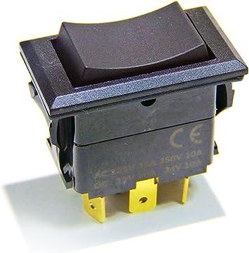 Round Light 12v v 10a a Blue Illuminated 12 Volt Rocker Switch ON//OFF 10 Amp DC