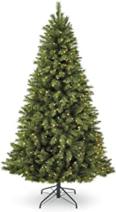 NOMA 7-Foot Henry Fir Christmas Tree with Lights   400 Color-Changing Warm White & Multi-Color LED Lights with 3 Modes   1000 Tips