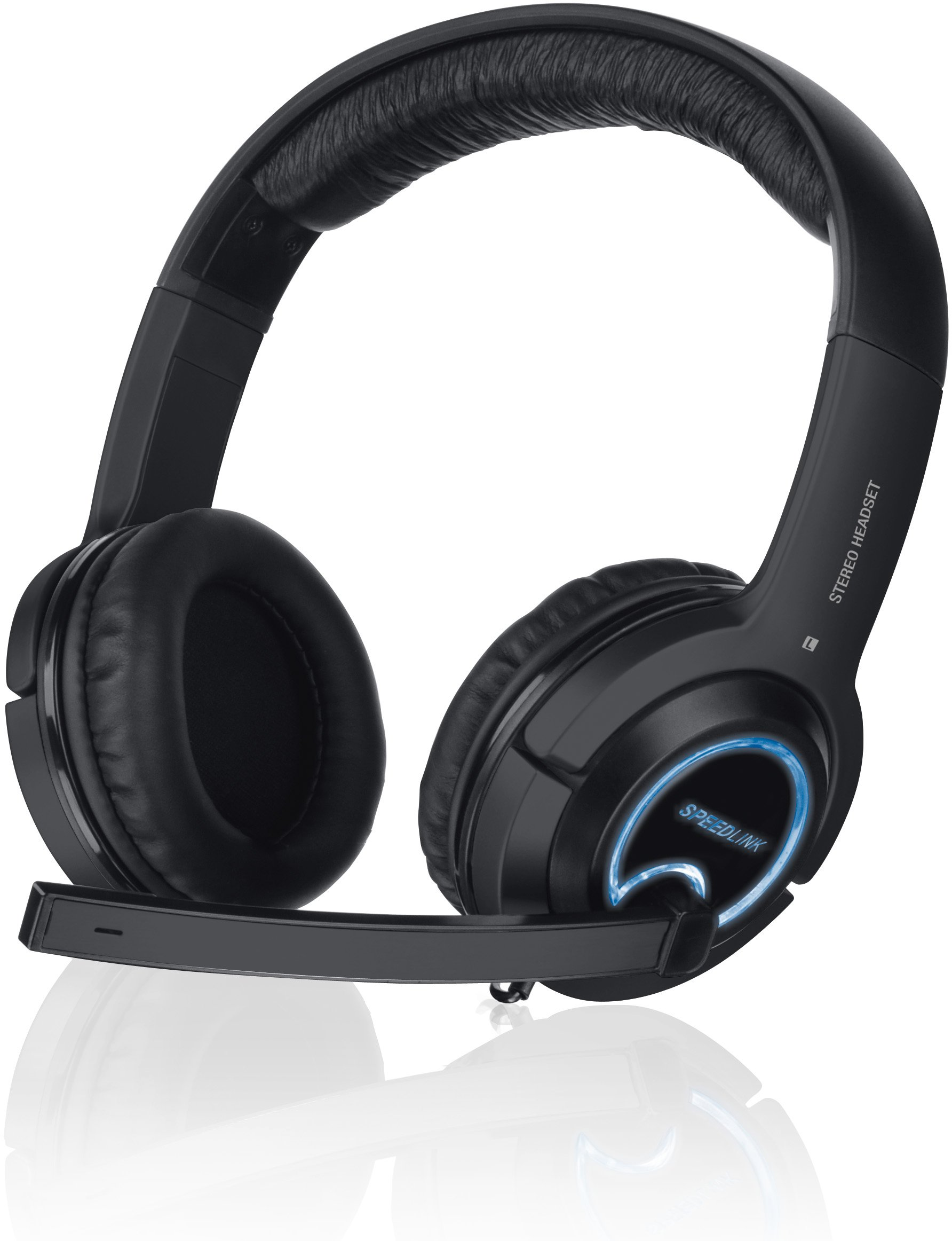 Speedlink Xanthos Stereo Console Gaming Headset - Black (PS4/PS3/PC/Xbox 360) by Speedlink