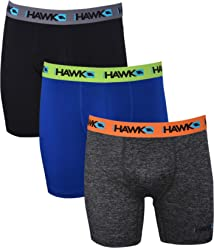 cbc81daaaa Tony Hawk Mens Performance Underwear - 3-Pack Stretch Performance Boxer  Briefs Training Breathable Athletic