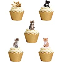 36 Stand Up Premium comestible oblea papel Cute gatitos gatos, para decoración de pasteles por