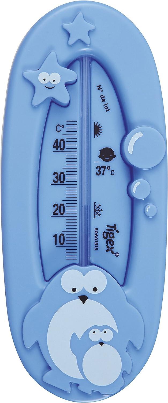 Tigex termómetro de baño | diseño pingüino | azul