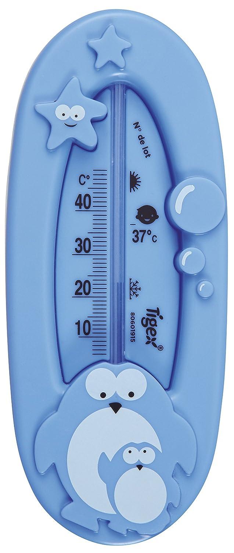 Tigex 80601915/Thermom/ètre de bain pour b/éb/é de 0-18/mois Motif pingouin
