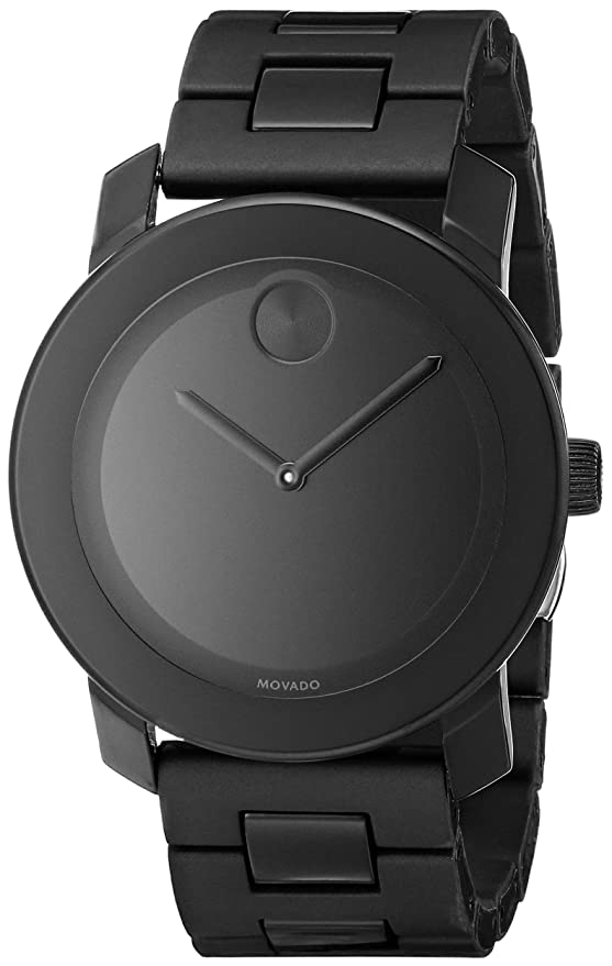 amazon com movado men s 3600047 bold black stainless steel amazon com movado men s 3600047 bold black stainless steel bracelet watch watches