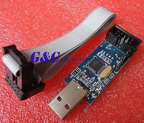 Amazon.com: Programador USB ISP USBASP Para Atmel , 51 AVR ...