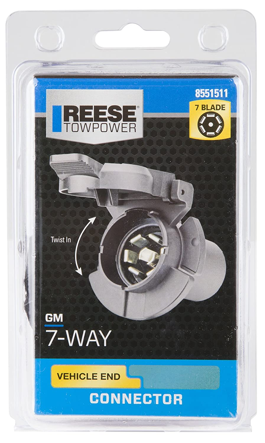 Reese Towpower 8551511 Professional Series 7 Way Twist Automotive Wiring Connectors Gm In Connector For Vehicles