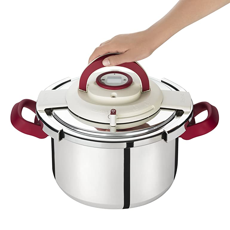 Seb Clipso P4400600 Easy Release Stainless Steel Pressure Cooker + ...