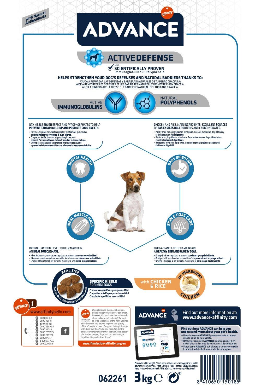 Advance Pienso para Perros Mini Adult - 3Kg: Amazon.es: Productos para mascotas