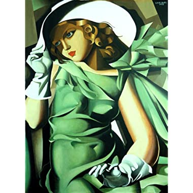 Tamara de Lempicka - Young Lady with Gloves, Size 24x32 inch, Canvas Art Print Wall décor
