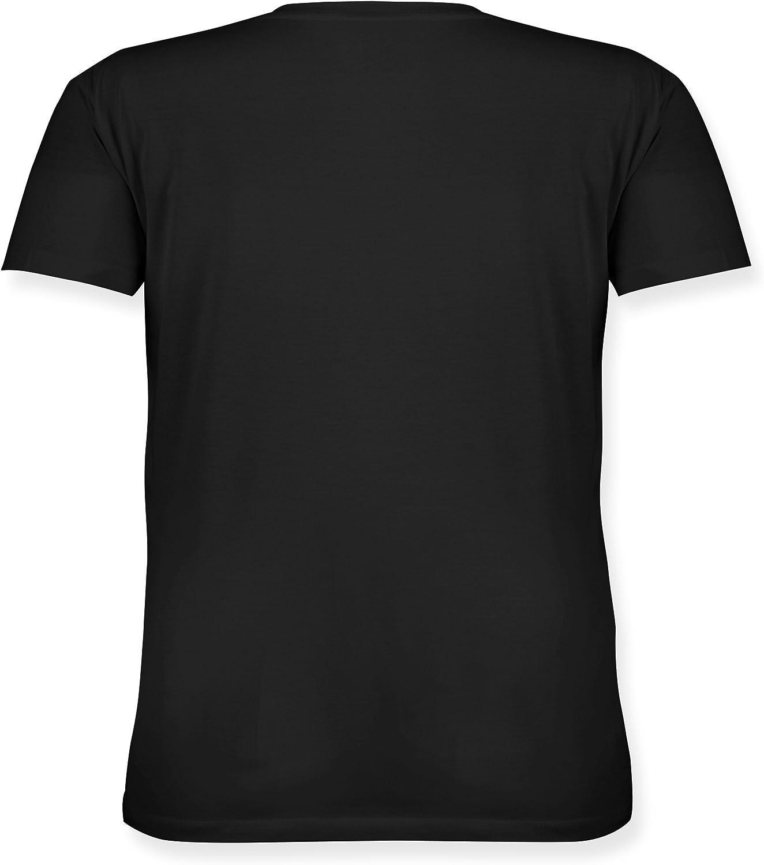 Zur Realit/ät hab ich nur sporadisch Kontakt wei/ß Karneval /& Fasching Lockeres Damen-Shirt in gro/ßen Gr/ö/ßen mit Rundhalsausschnitt