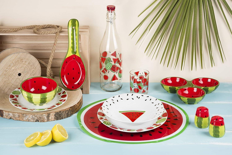1 Excelsa Bouteille Transparente avec Motif Watermelon