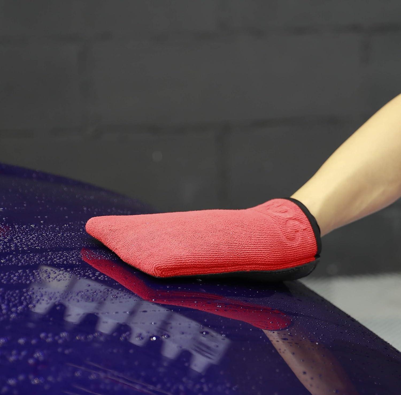 SGCB 1PCS Fine Grade Moya Clay Bar Mitt Premium Surface Prep Mitt Finish Easy Detail Quick Remove Car Automotive Wash Mitt Clay Eraser Mitt Glove Fast Clean for Bonded Contamination Smooth Car Paint