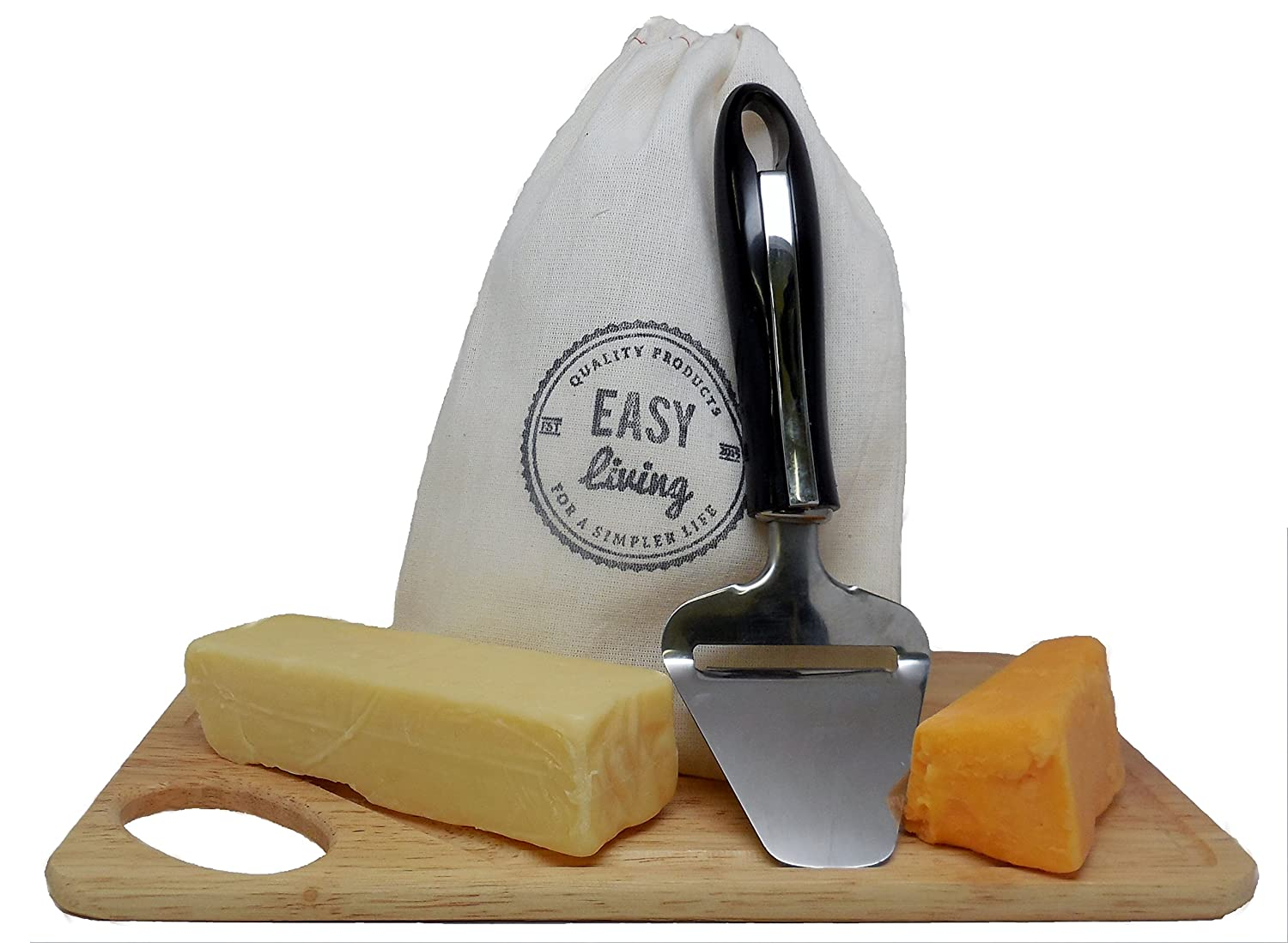 Amazon.com: Cheese Slicer with Storage Bag, Hand-Held Cheese Plane ...
