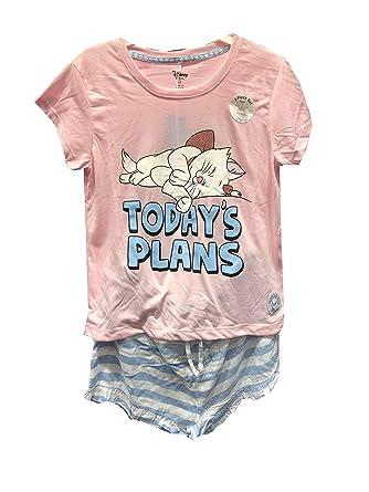 fd07e05be9 Disney The Aristocats Marie Ladies Girls Womens Top and Shorts Pajamas  Pyjamas PJ Set UK XS