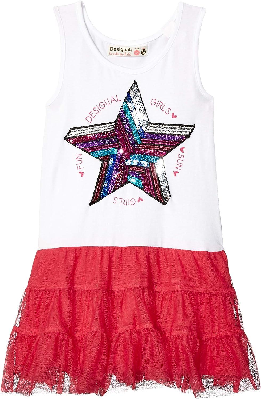Vestito Bambina Vest/_Swan Desigual Girl Knit Dress Straps
