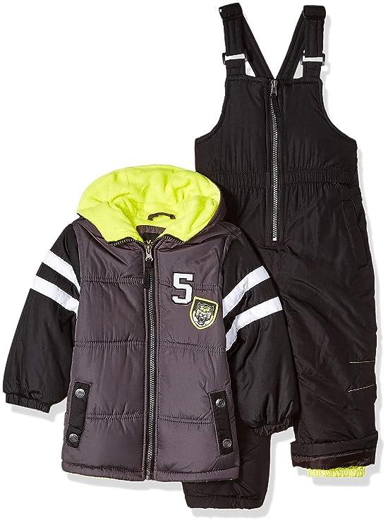 iXtreme Boys' Little Active Colorblock Snowsuit, Charcoal, 6 best baby boy snowsuits
