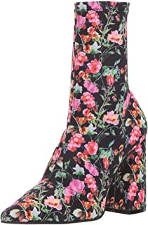 Steve Madden Women's Lombard Ankle Boot, Floral, 6 M US