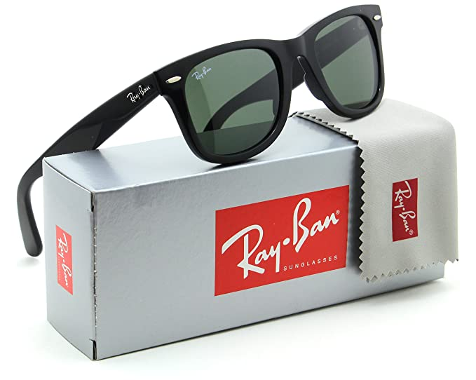 30244ae5b07f77 Image Unavailable. Image not available for. Color  Ray-Ban RB2140 Original  Wayfarer Classic Unisex Sunglasses Black 901 ...