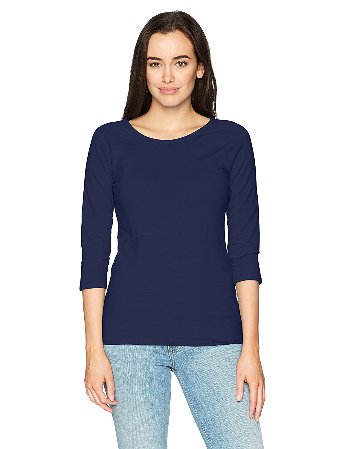 Hanes Women's Stretch Cotton Raglan Sleeve Tee, Hanes Women's Activewear O9343