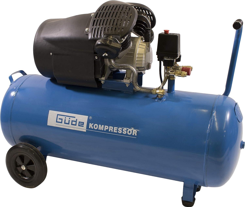 Güde 50123 Kompressor 412 8 100 100 L Kessel Direktantrieb 2 Manometer 2 Druckluftkupplungen Sicherheitsventil Baumarkt