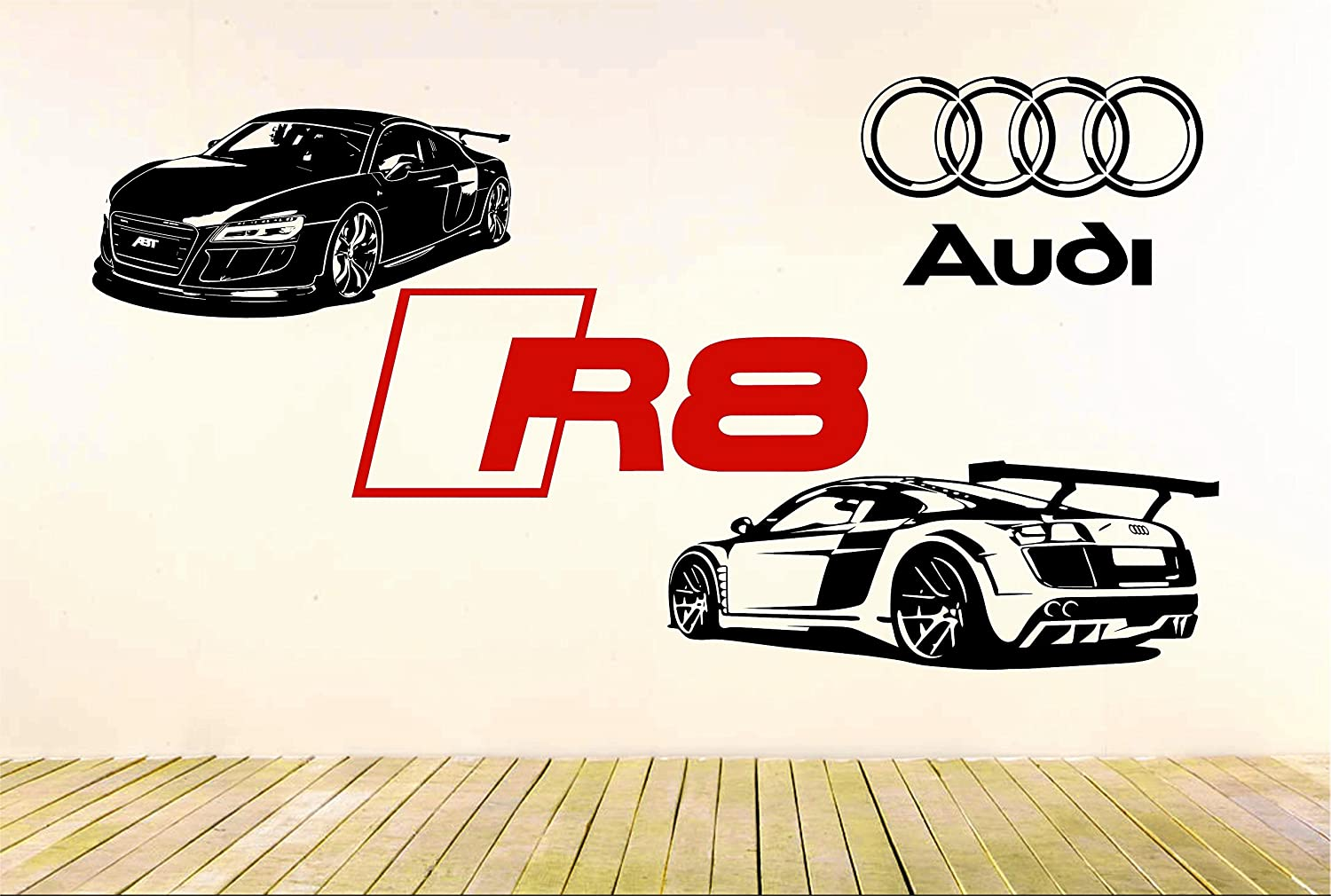 Jcm custom r8 gt racing super sport car removable wall vinyl decals stickers 2 cars package amazon com