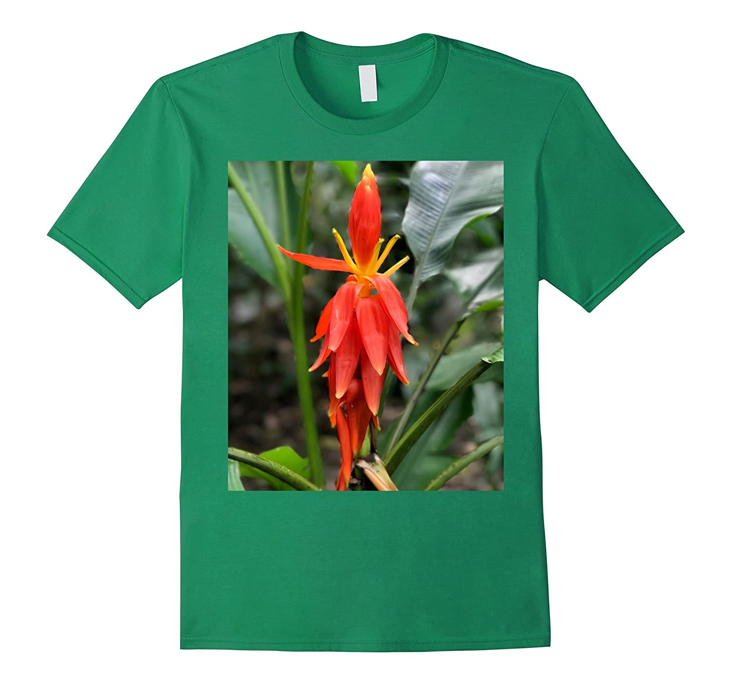 Beautiful Red, Orange, and Yellow Tropical Rainforest Flower-FL