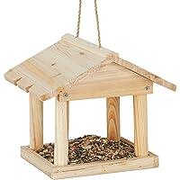 Relaxdays Casita Colgante para pájaros, Comedero de jardín