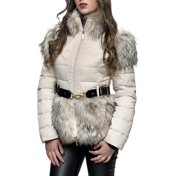 Elisabetta Franchi Piumino con Cintura (46)  Amazon.it  Abbigliamento f2b4d5fd8d5