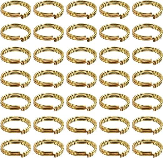 BronaGrand - 200 llaveros pequeños de oro para organizar llaves ...