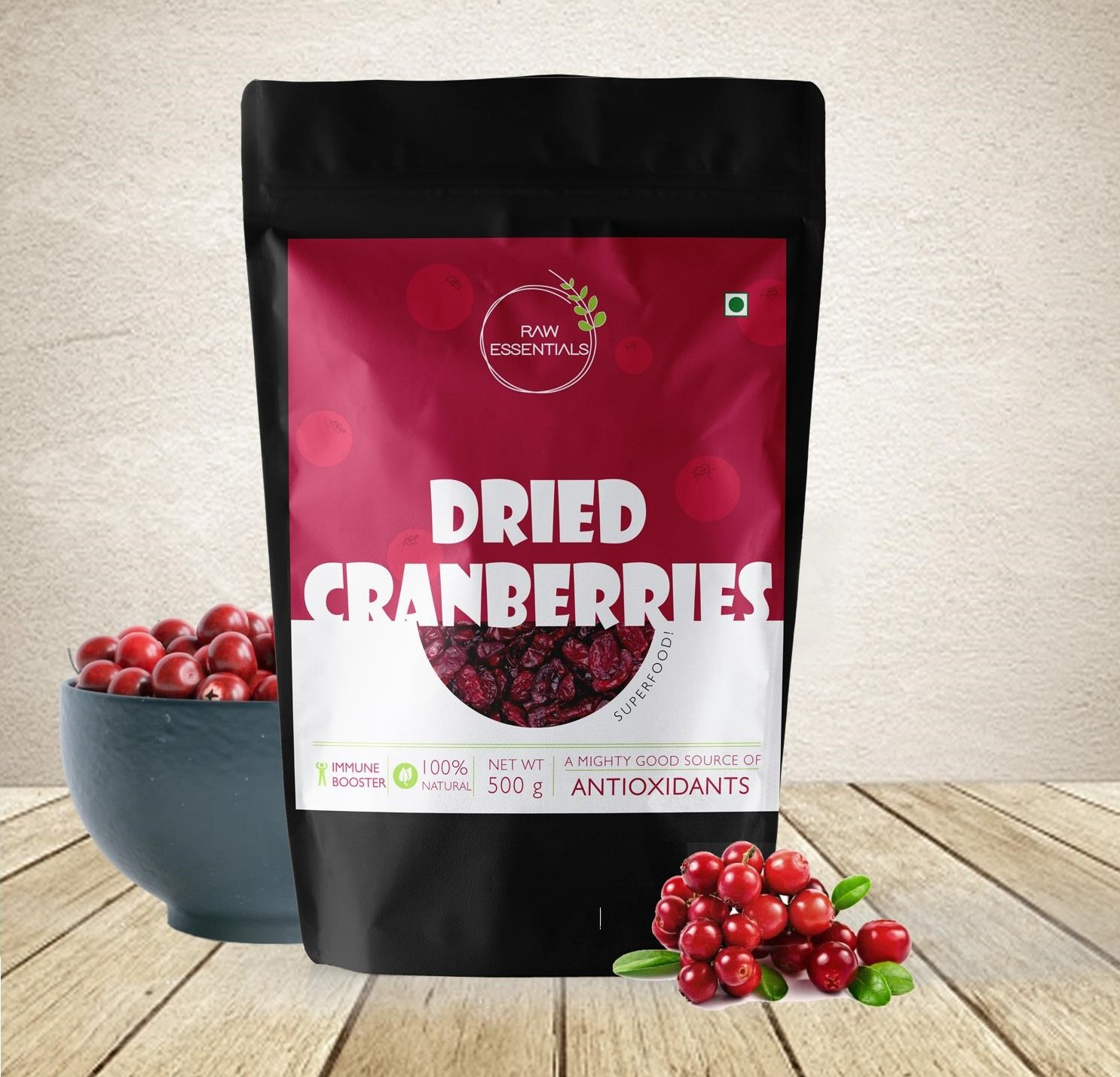 Raw Essentials Dried Cranberries (500): Amazon.in: Grocery