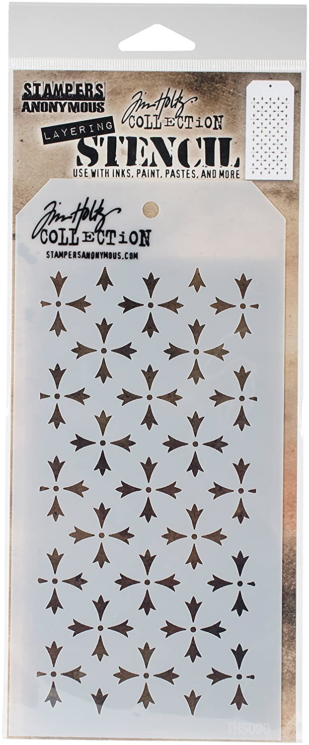 Stampers Anonymous THS090 Tim Holtz Layered Stencil 4.125X8.5-Crossed