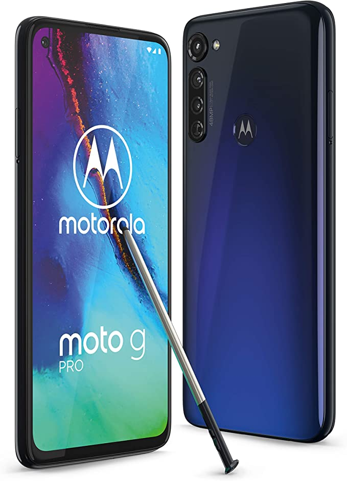 Moto G Dual Sim Smartphone Fhd Display 48mp Camera System Android 10 Blue Incl Protective Cover Exclusive To Amazon Elektronik