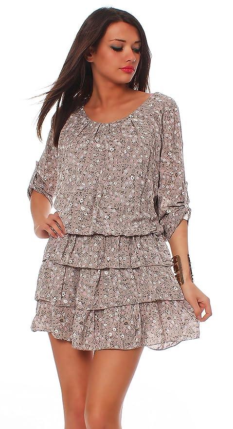 Moda Italy Blusa la túnica Un poquito la mini el vestido de verano el rock el vestido de playa: Amazon.es: Ropa y accesorios
