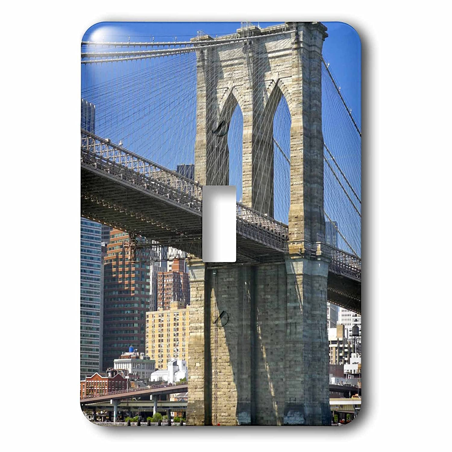 3dRose lsp/_93055/_1 New York City Multicolor Brooklyn Bridge Over East River Single Toggle Switch