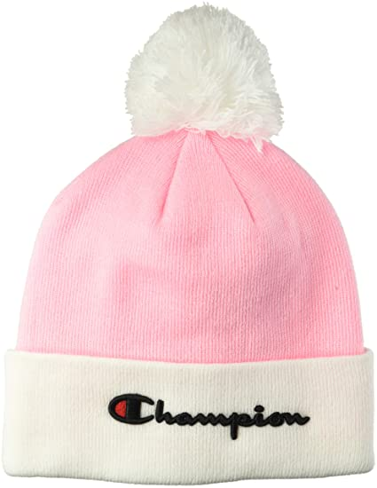 3fae07e7c Champion LIFE Men's Script Knit Pom, Pink Candy/White, OS: Amazon.co ...