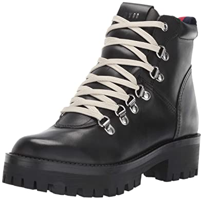 3b97189ce1b Steve Madden Women s BAM Hiking Boot Black Leather 5.5 ...